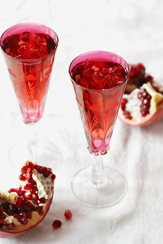 Pomegranate Kir Royale | girlversusdough.com @girlversusdough