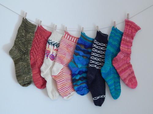 Singleton Socks of Shame, year end 2015
