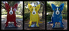 """Collage of """"We stand together"""" by George Rodrigue"""