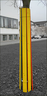 Billede af Bauhaus. rotblaugelb dessau szim simonemüller red blue yellow bauhaus art