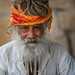 Inde: Rajasthan, le saddhu de jaisalmer. by claude gourlay