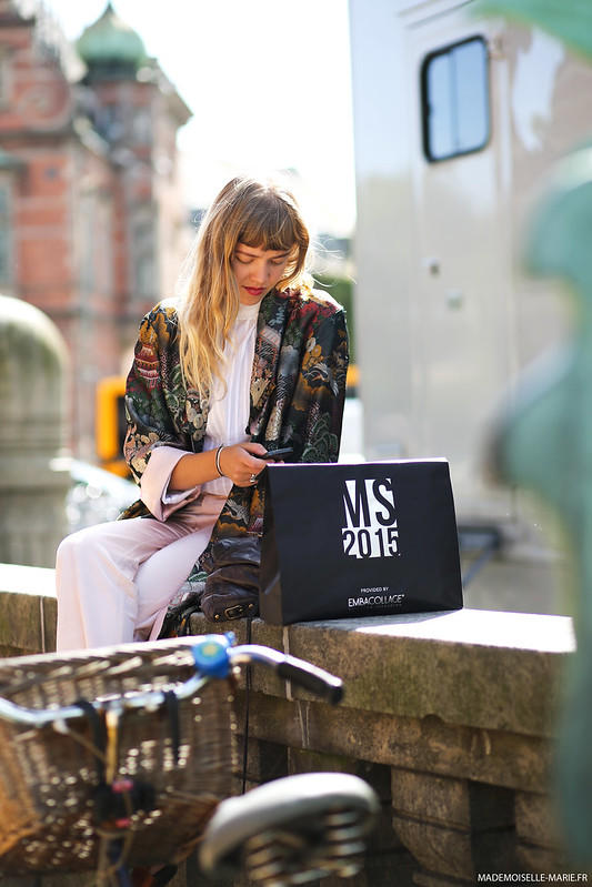 Street style Cecile Lindegaard at Copenhagen fashion week