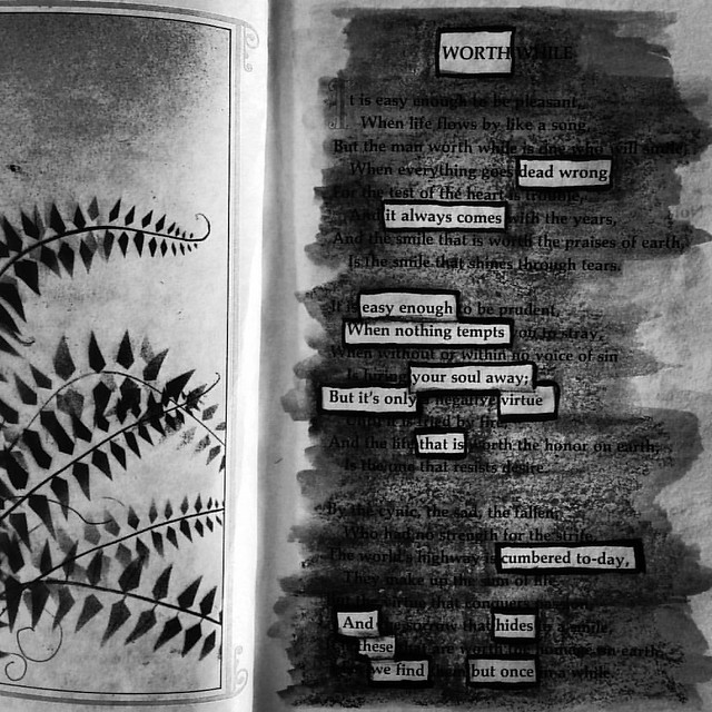 Worth #blackoutpoetry #blackoutpoems #poetry #poems #alteredbooks #foundpoems #foundpoetry