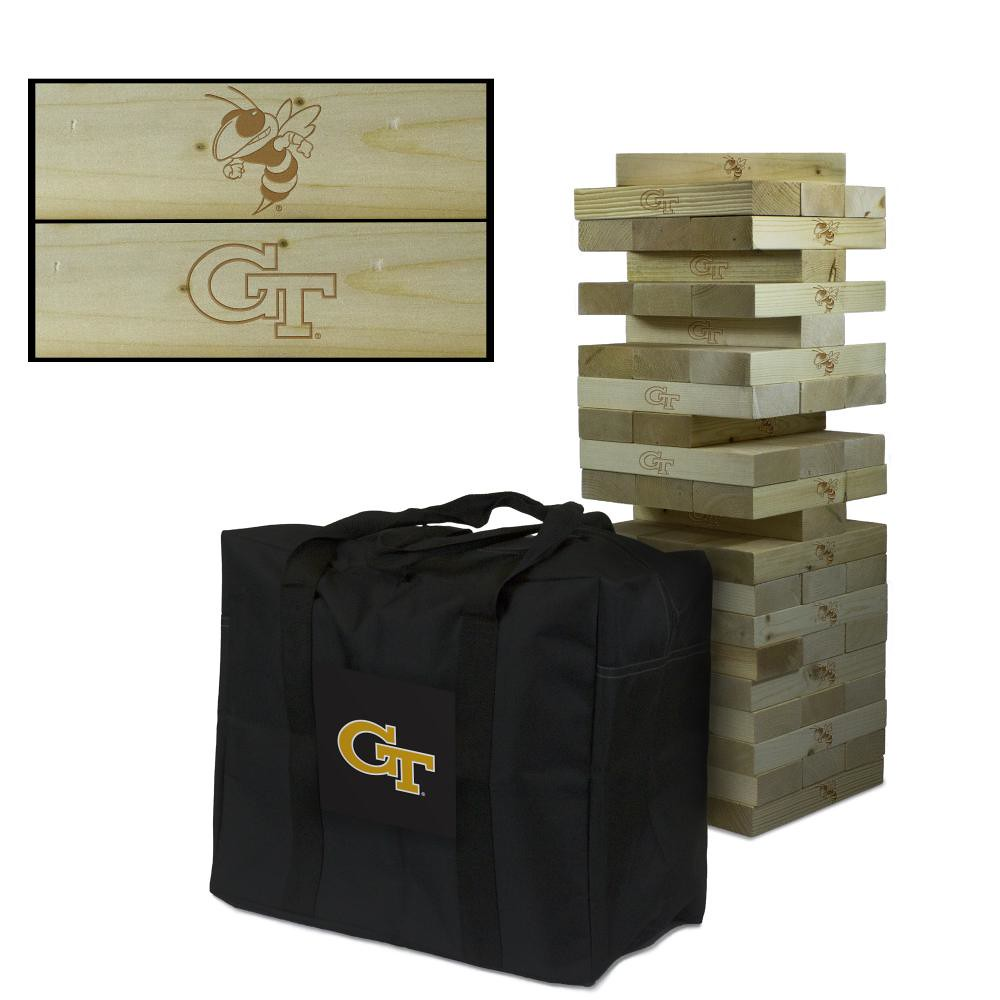 Georgia Tech Yellow Jackets Wooden Tumble Tower Game