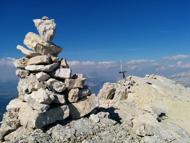 Am Gipfel des Piz Conturines - Le Conturines