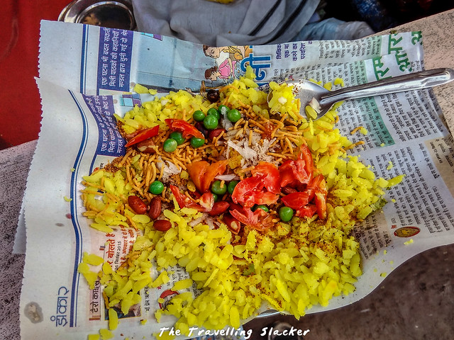 Poha at Morena Bus Stand