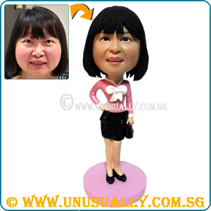 Custom 3D Sweet  Lady In Pink Figurine - © www.unusually.com.sg