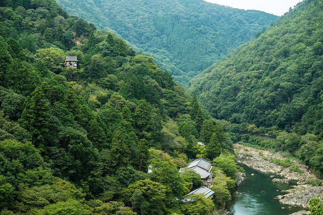 slopes of Hozu-gawa