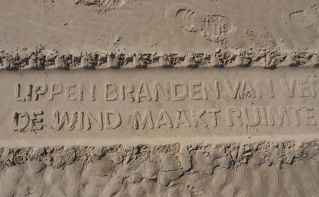 Strandpoëzie op Vlieland