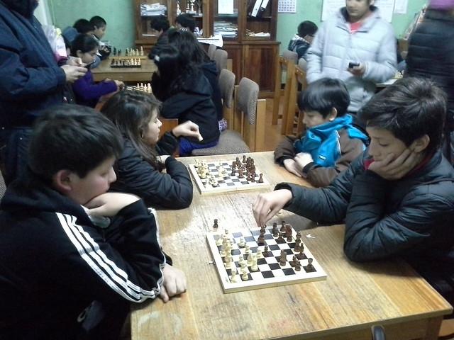 Encuentro comunal de ajedrez que fue el viernes 04 de Septiembre