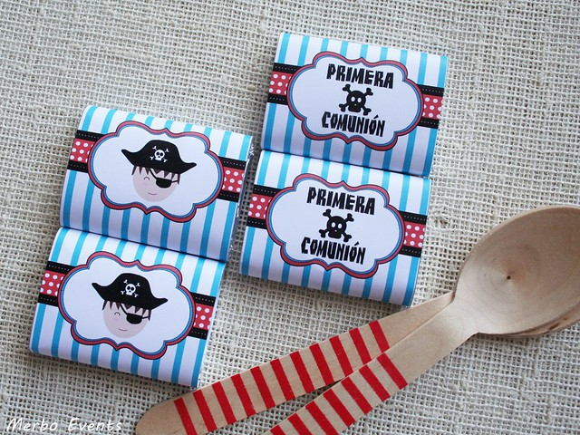 chocolatinas piratas personalizadas