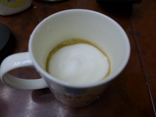 Nespresso 奶泡機打出來的奶泡