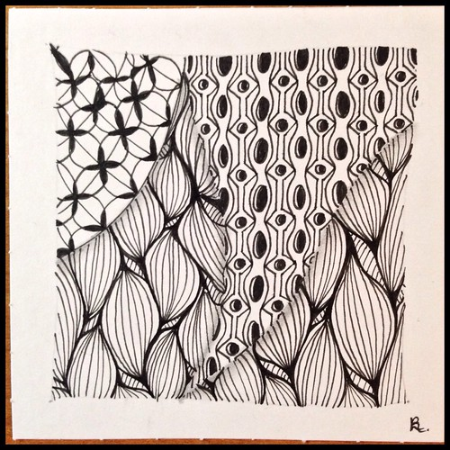 Zentangle 107 for Weekly Challenge #30: Tangle with O-A-C