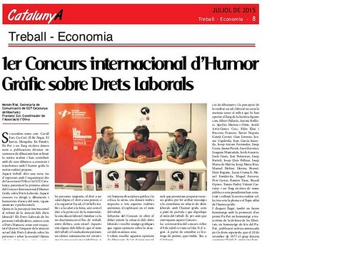 Des de la Revista CatalunyA s´ha contribuït difondre convocatoria concurs