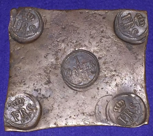 1731 Swedish One Daler Plate Money