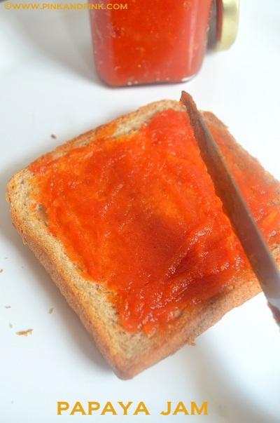 Papaya Jam Recipe Without Pectin and preservatives. 100% natural