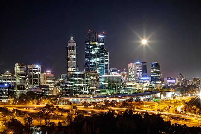 Perth in the night : HDR