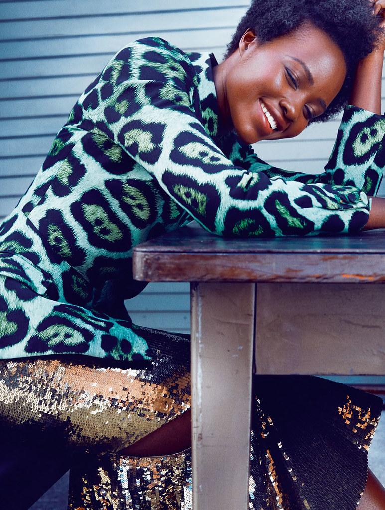 Люпита Нионго — Фотосессия для «Elle» UK 2015 – 6