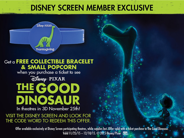 The Good Dinosaur Cinemark Free Bracelet