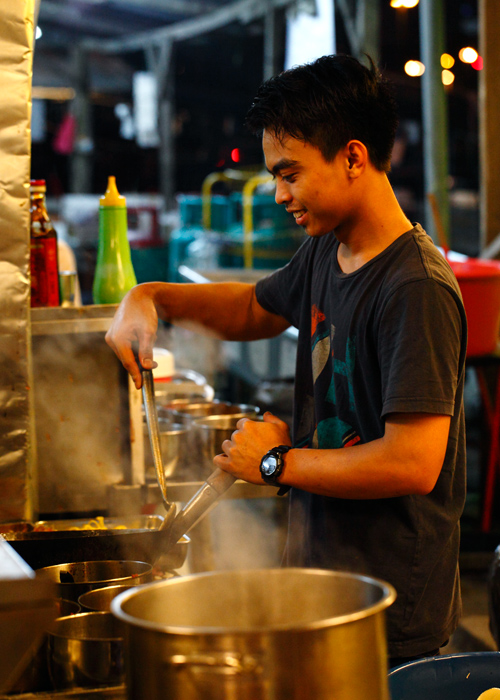 Young Boy Cooking Char Koay Teow