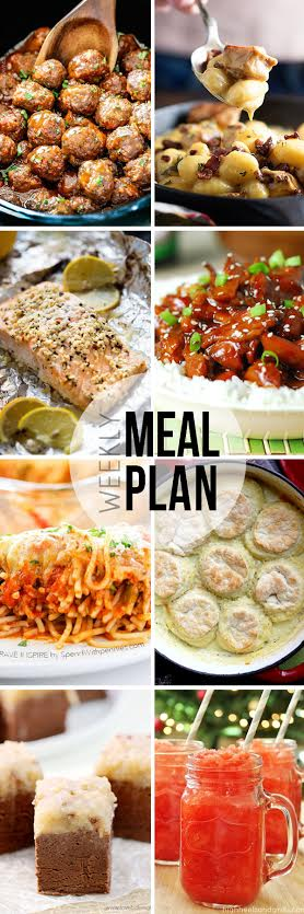 Week 25. Collaborative weekly meal planning collage.