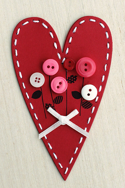 Stitched Primitive Heart by Papertrey Ink Valentine