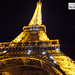 Eiffel Tower at night, close up