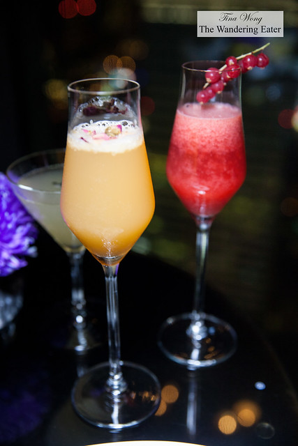 Oriental Sparkle and Hibiscus & Rose Fell cocktails