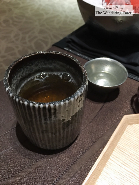 Piping hot cup of sencha tea
