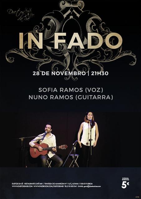 CONCERTO IN FADO Duetos da Sé - SEGUNDA-FEIRA 28 DE NOVEMBRO 2016 - 21h30 - SOFIA RAMOS e NUNO RAMOS