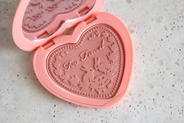 Too Faced Love Flush blush in I will Always Love you review swatches