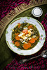 sorrel soup with egg and carrot