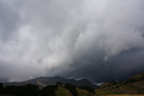 Bad weather in Pyrenees
