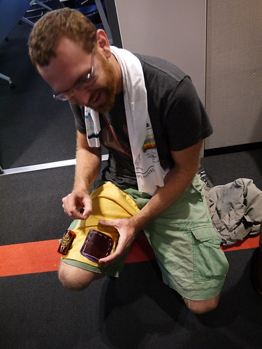 Andy Quitmeyer's portable soldering shorts at ISWC Wear & Tear workshop
