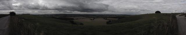 180 deg Panoramic View from the Salisbury Ox Drove, Win Green Hill