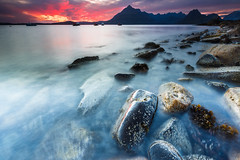 Sunset in Elgol on Isle of Skye