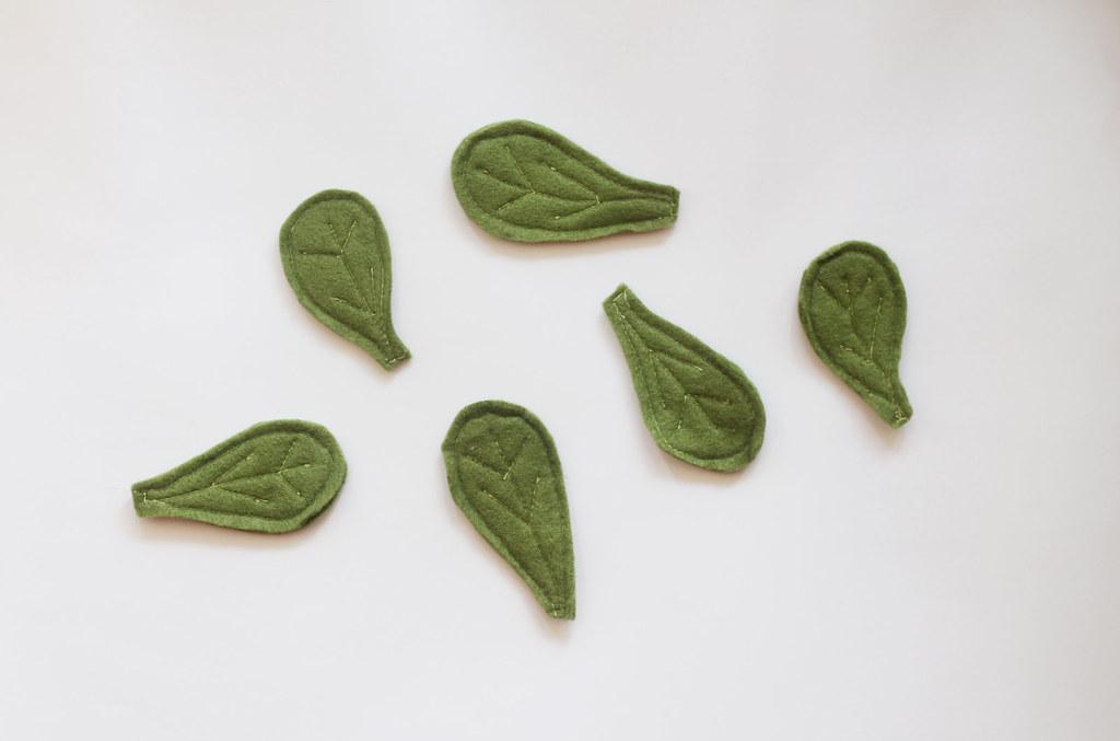play food - felt spinach