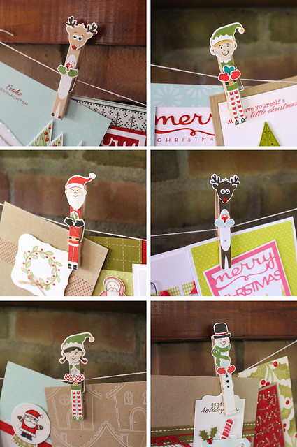 Card Garland Pins