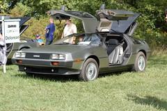 automobile, vehicle, delorean dmc-12, classic car, land vehicle, coupã©, sports car,