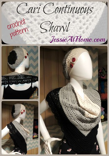 Cari Continuous Shawl ~ Crochet Pattern by Jessie At Home