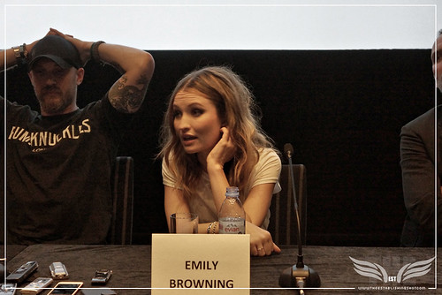 The Establishing Shot: LEGEND PRESS CONFERENCE - EMILY BROWNING ON HER CHARACTER FRANCES SHEA - SOHO HOTEL, LONDON
