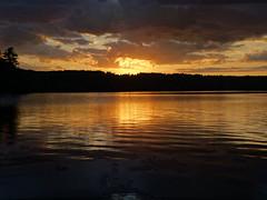 God's sunset over Laurel Lake