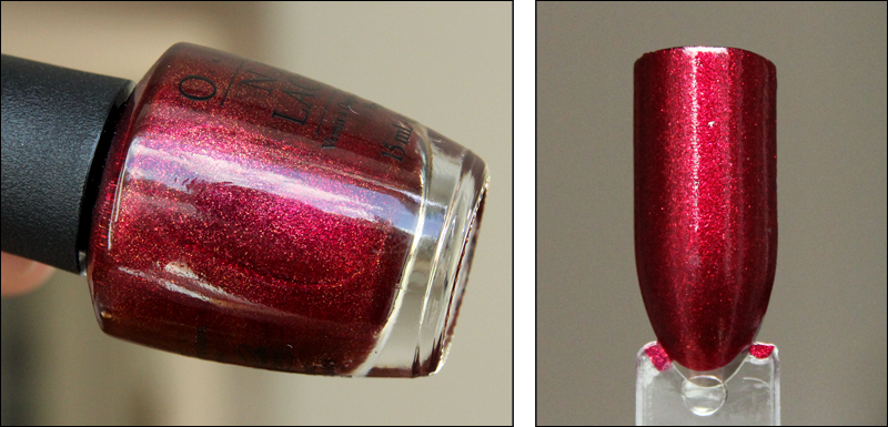 OPI let your love shine swatch