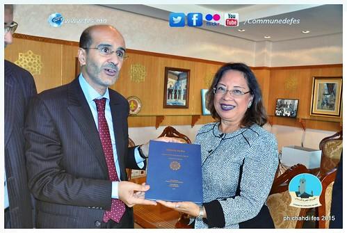 عمدة مدينة فاس يستقبل سفير باناما  الإثنين 5 أكتوبر 2015