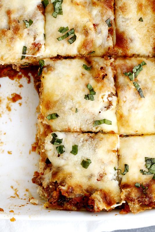 Lighter Lasagna Bolognese | girlversusdough.com @girlversusdough #pasta #dinner #healthy #HealthyPastaMonth #spon