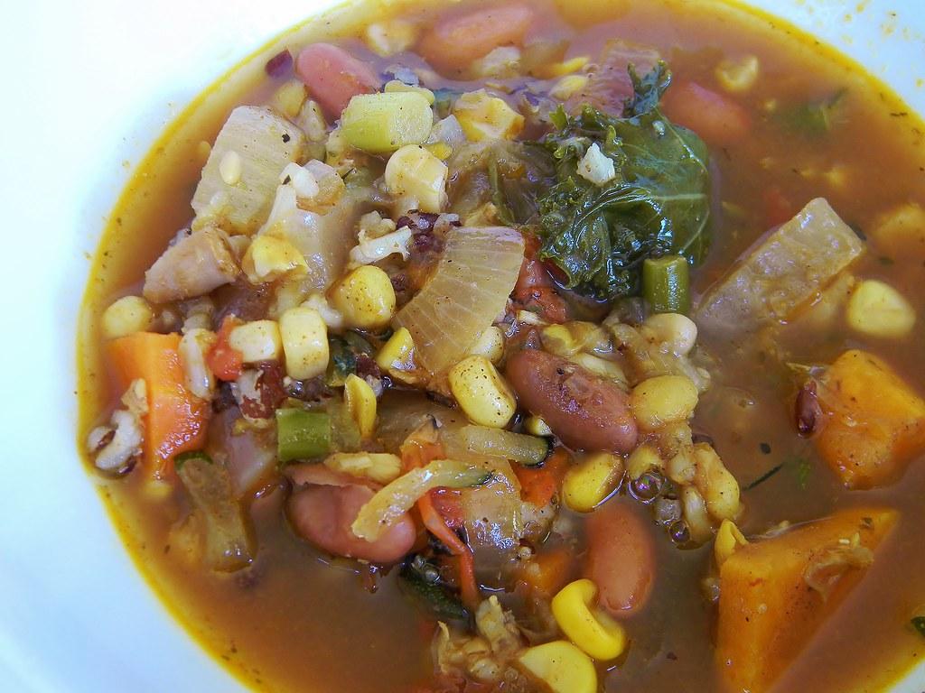 Mexican Turkey Bean Soup