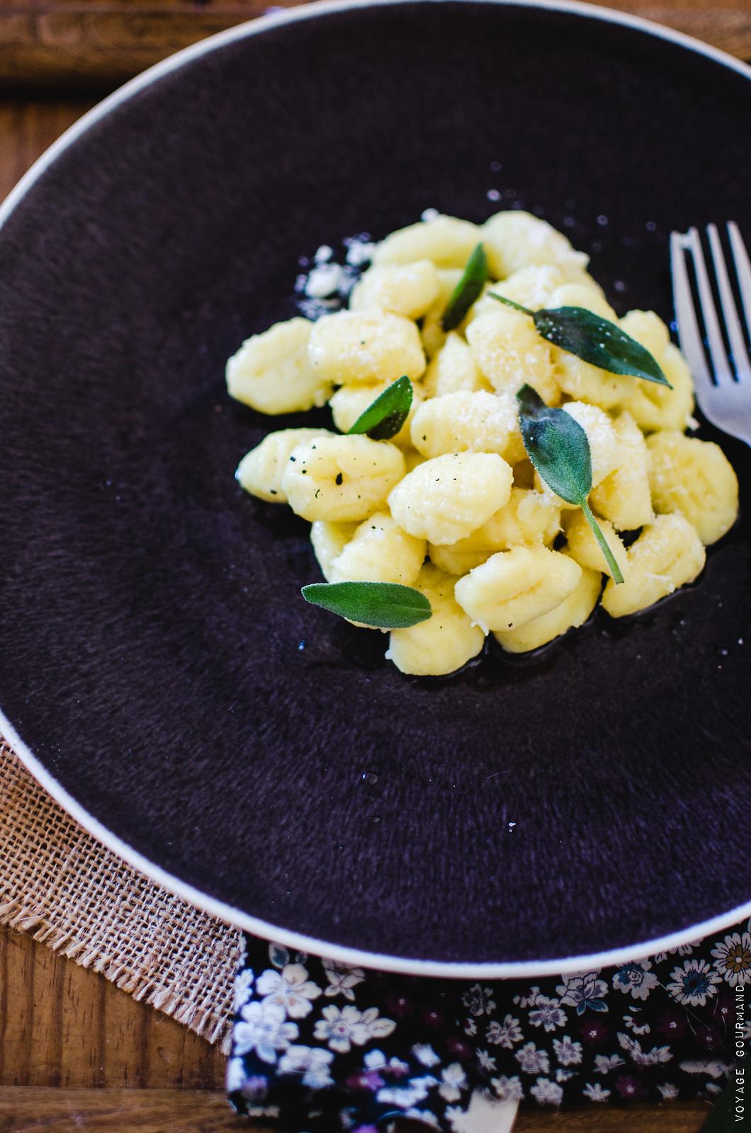 Gnocchis de pomme de terre au beurre de sauge