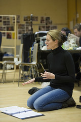 Carrie Cracknell (director) in rehearsal for Macbeth. Photo by Richard Hubert Smith