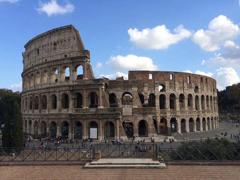 Colosseum from Piazza di Santa Francesca Romana.