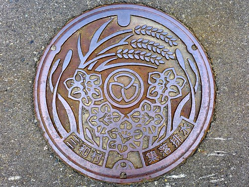 Sanwa Nigata, manhole cover (新潟県三和村のマンホール)